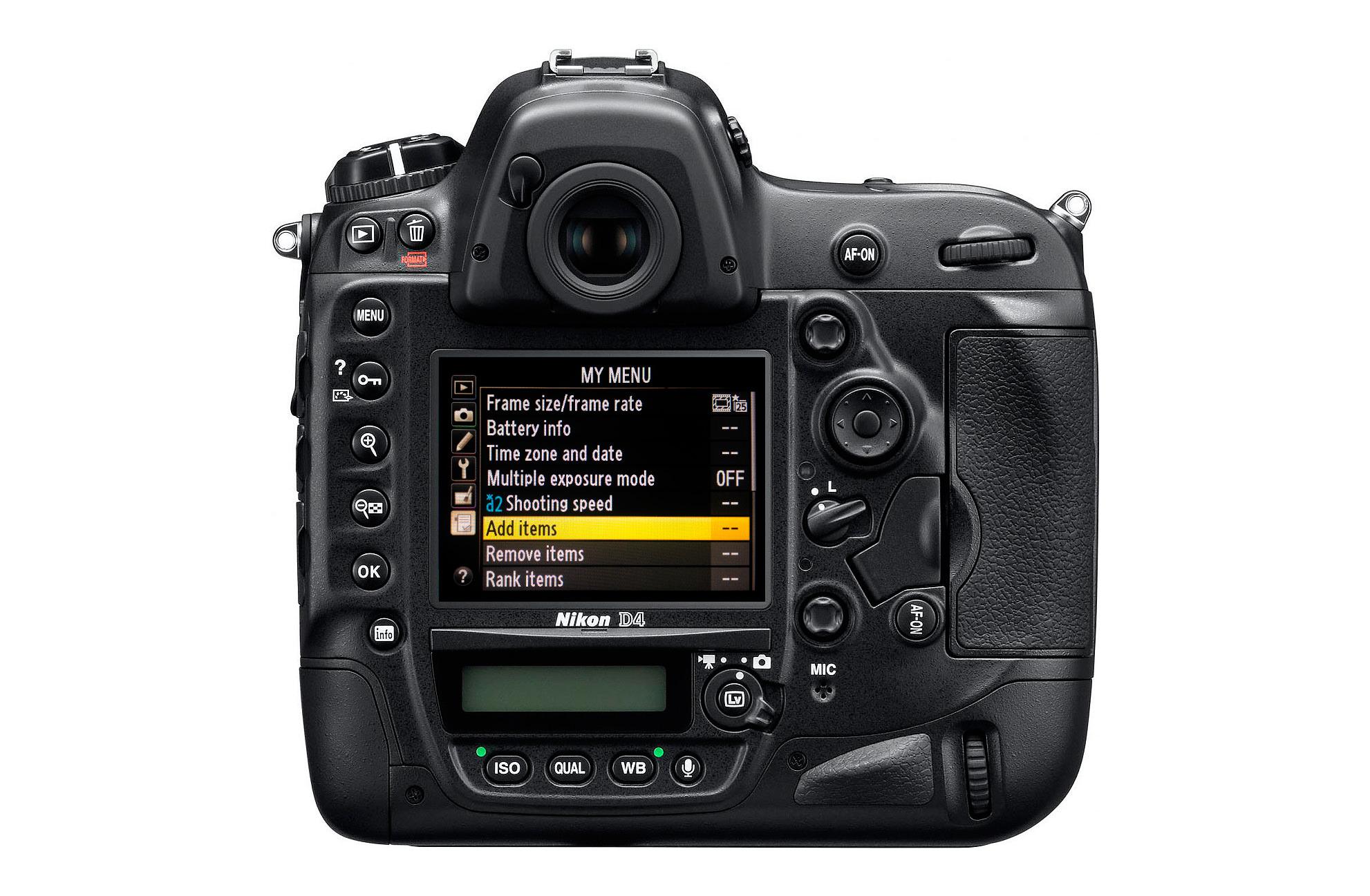 Nikon-D4-my-menu
