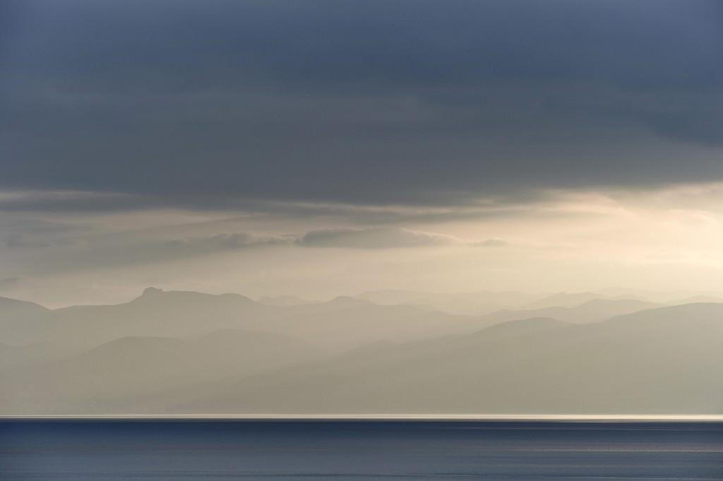 Tranquil lake Ohrid
