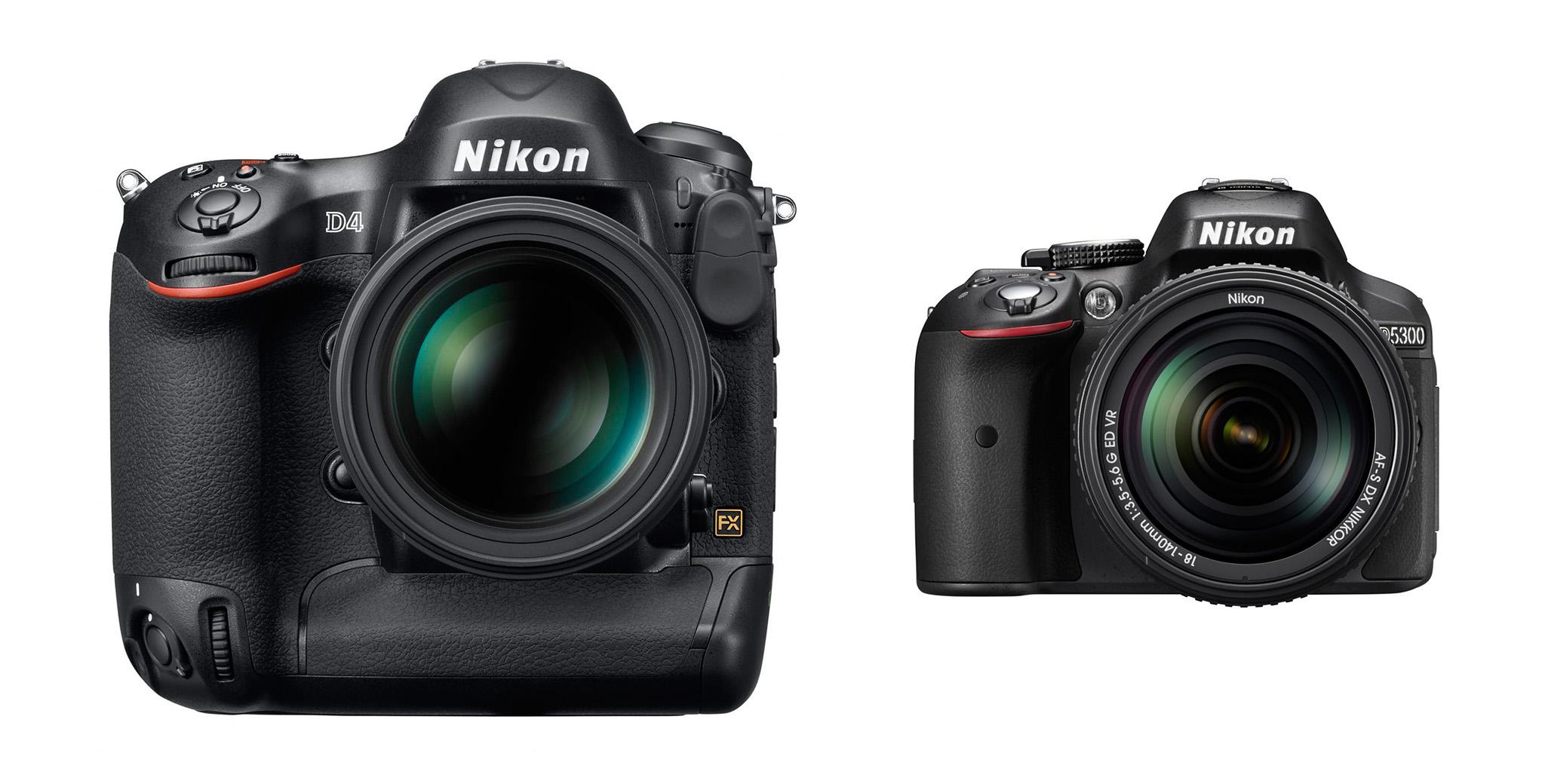 Nikon D4 vs Nikon D5300