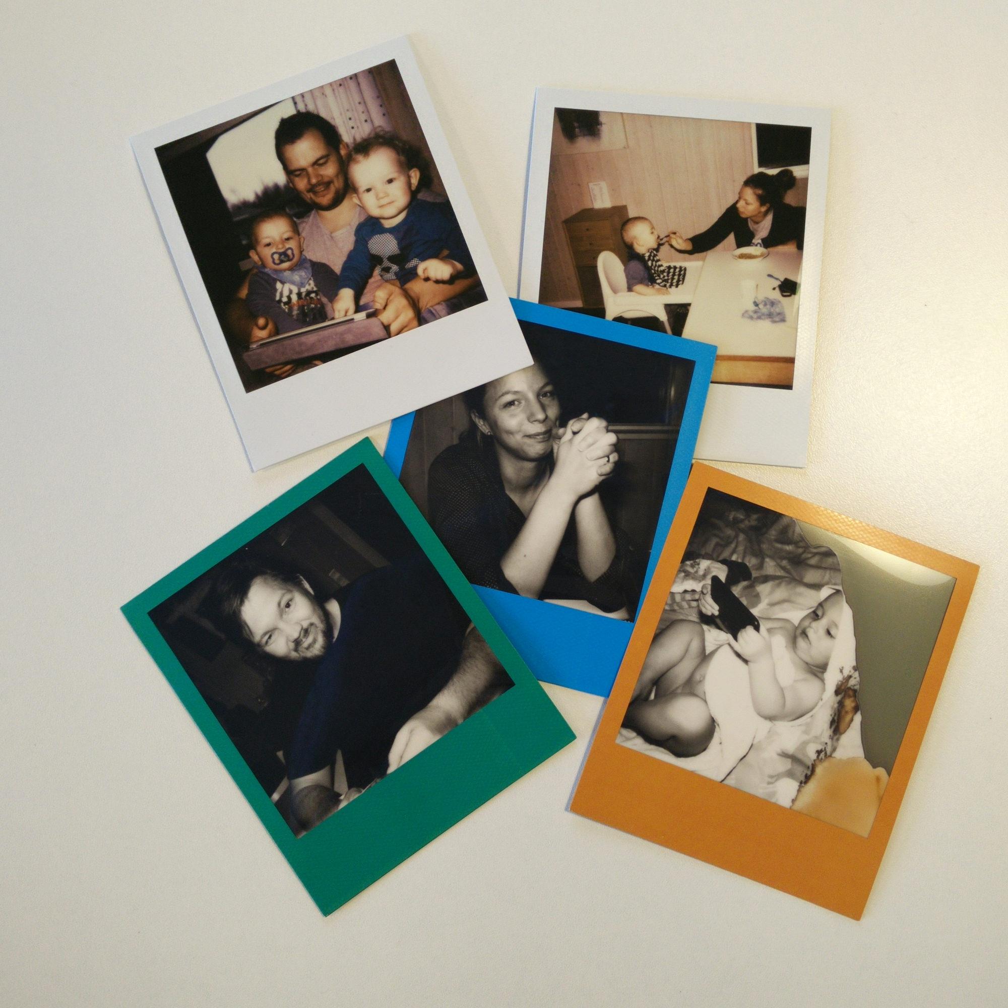 """Det er ikke alle billeder, der faktisk lykkedes. Det er en del af """"Charmen"""", ved Polaroid."""