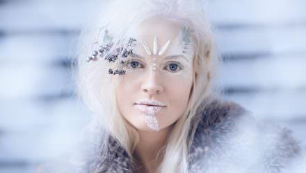 Førken frost model - mode foto - tutorial