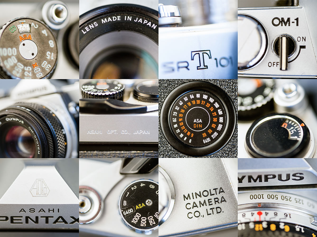 Kameraerne er grundlæggende bygget efter samme opskrift, manuelt & mekanisk, men de har samtidig hver deres unikke design og fine detaljer.