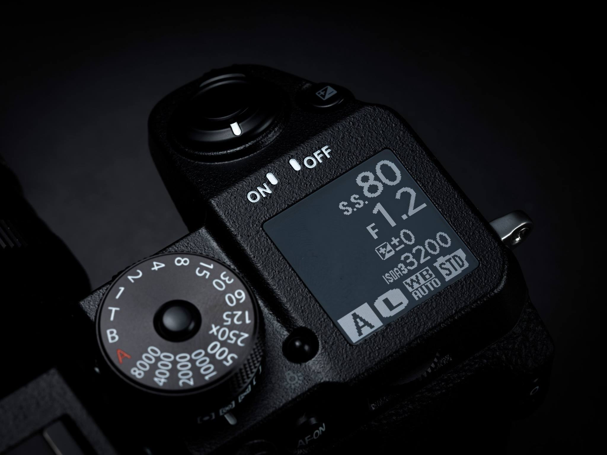 Fuji X-H1 - Top display