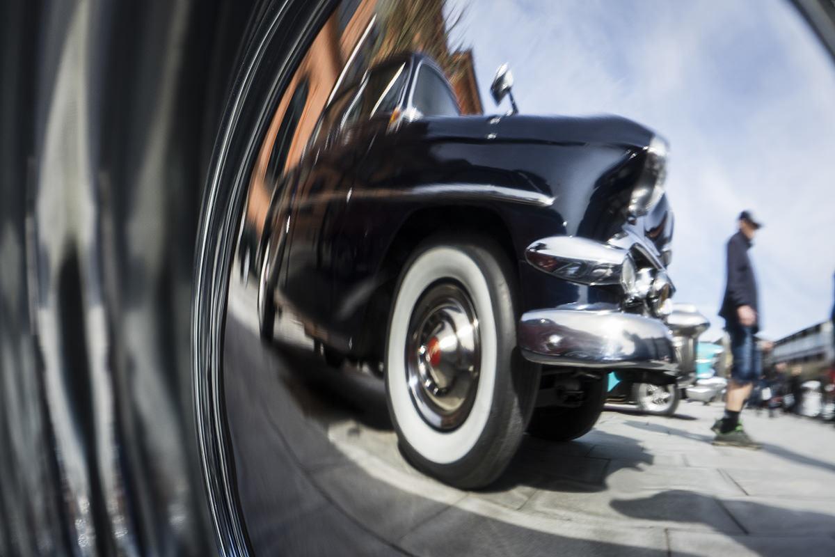 Et forårs-højdepunkt: gamle biler i midtbyen. Ja okay, de er sgu dejlige:)