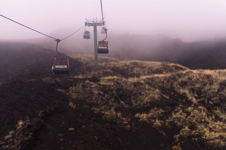 Turist på vulkaner